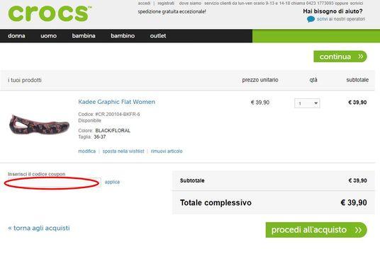 Utilizza un codice sconto Crocs e risparmia sui tuoi acquisti