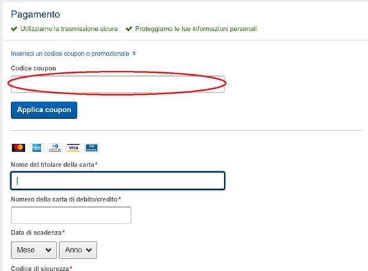 Dove applicare un coupon Expedia