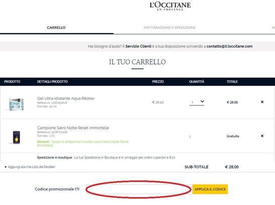 Come usare un codice sconto L'Occitane?