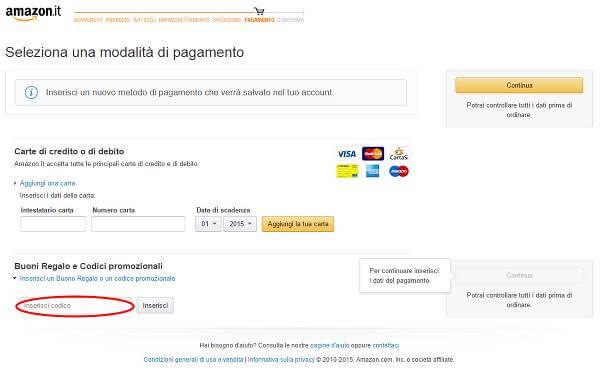 Risparmia sugli acquisti utilizzando un codice sconto Amazon