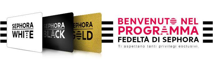 Le tessere Sephora: White, Black e Gold