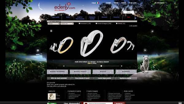 La tua gioielleria online è Edenly (Foto: homepage)