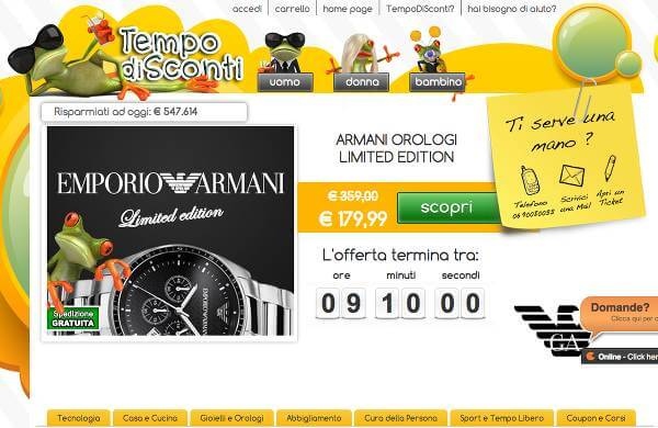 Homepage di offerte TempodiSconti.it