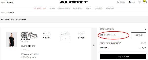 Come risparmiare con un codice sconto Alcott