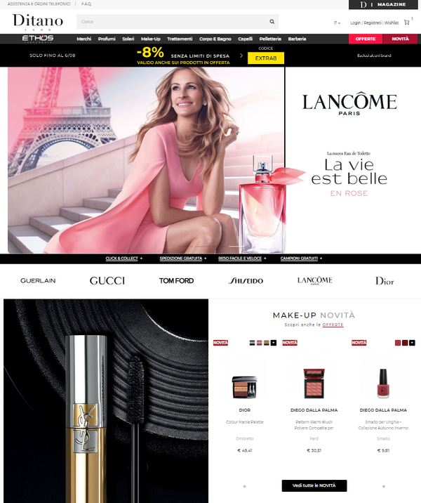 Screenshot del sito ditano.com
