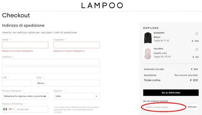 Risparmiare utilizzando un codice sconto Lampoon