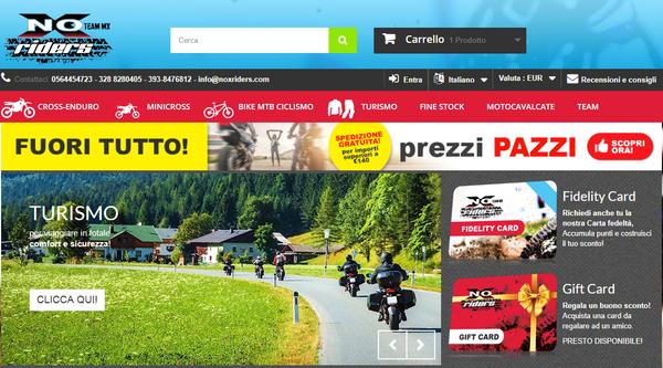 homepage pagina principale Noxriders