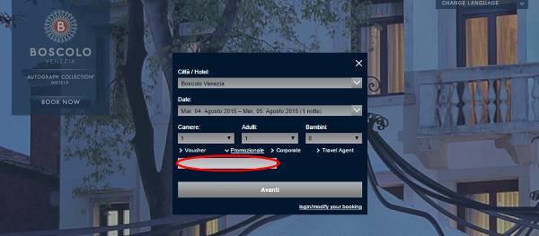 Come riscuotere e utilizzare un codice sconto Boscolo Hotels