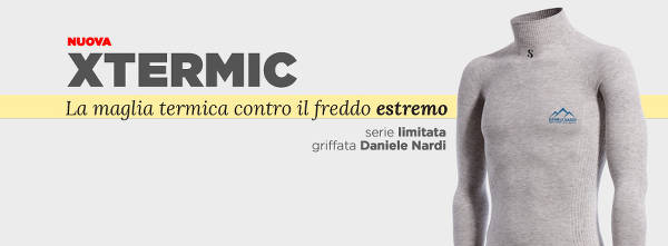 XTermic è la maglietta speciale realizzata da SilverSkin per l'alpinista Daniele Nardi