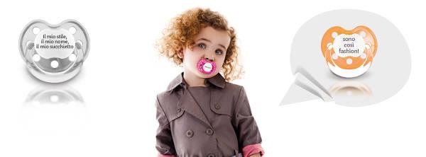Uno dei succhietti che è possibile personalizzare su Tutete.com