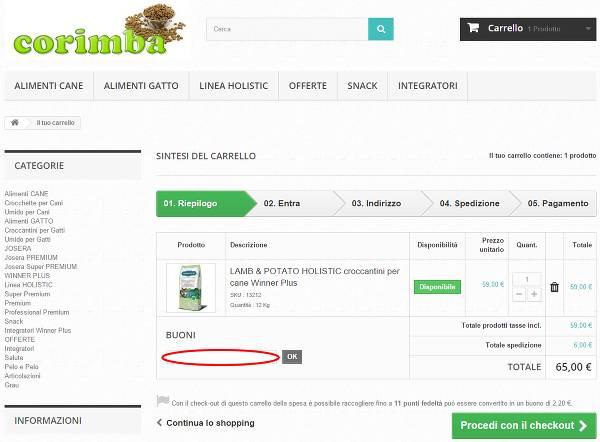 Riscuotere un codice sconto per risparmiare sui propri acquisti