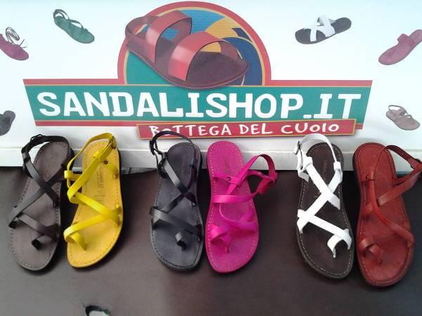 Sandali di cuoio italiano al 100%