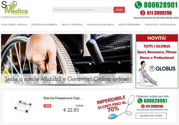 Screenshot del sito shopmedica.it