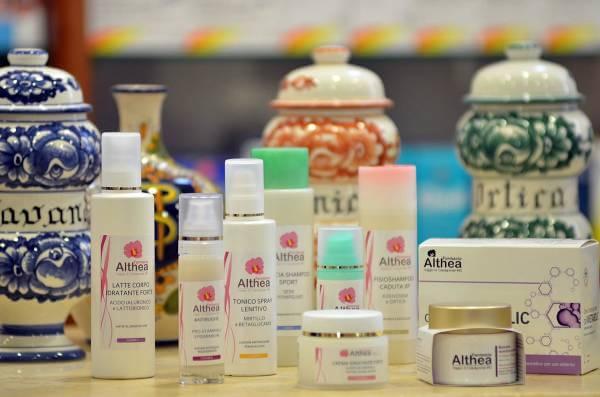 Alcune preparazioni di prodotti a marchio Althea