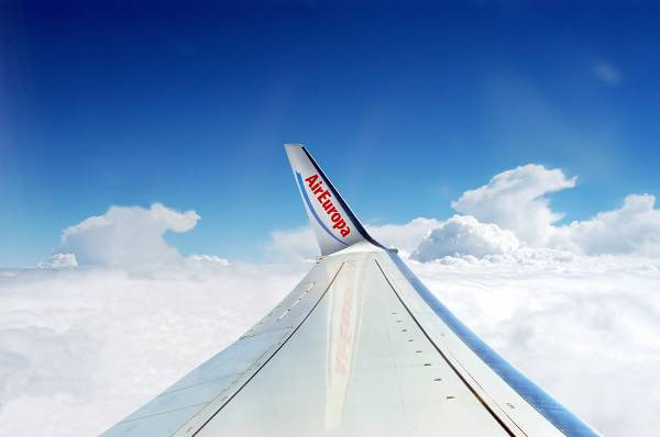Foto di un aereo della compagnia Air Europa
