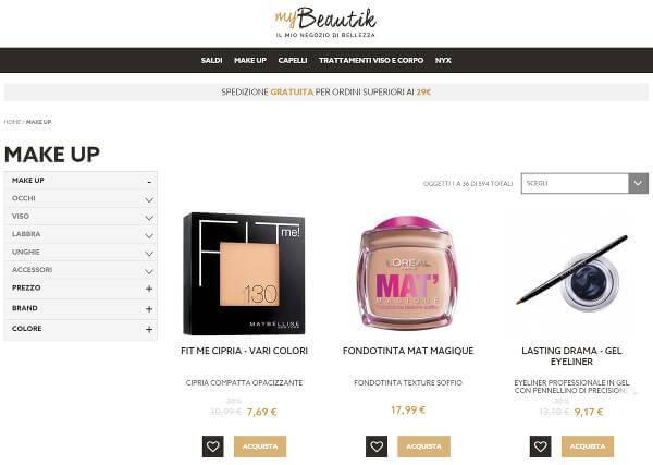 Screenshot del sito mybeautik.com