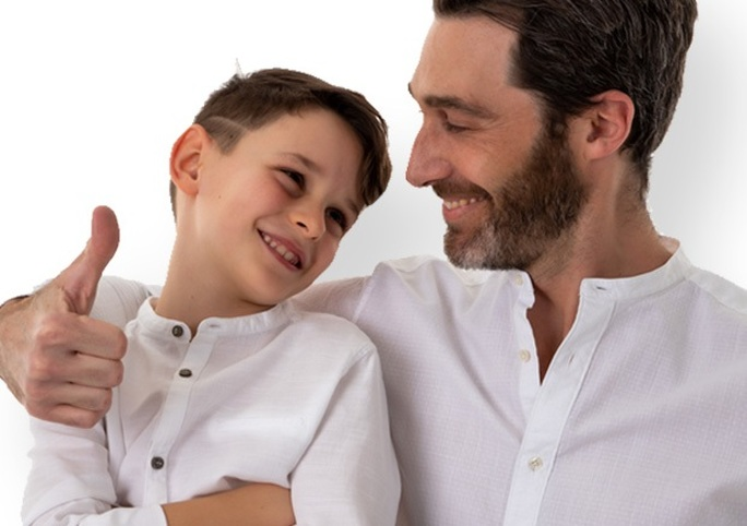 Alcune delle camicie per uomo e bambino