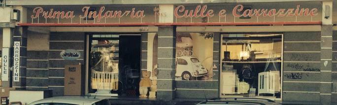 Una foto del negozio in provincia di Napoli