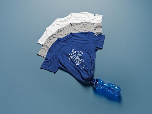 T-shirt North Sails in cotone e plastica riciclata