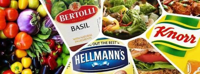 Immagine di alcuni dei brand di Unilever