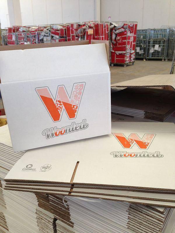 Packaging dei prodotti acquistati presso Woonted