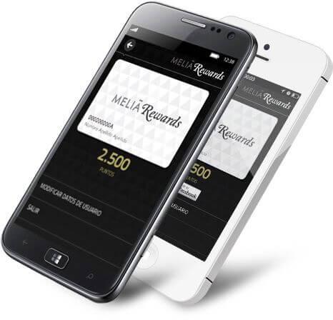 L'app MeliaRewards per iPhone