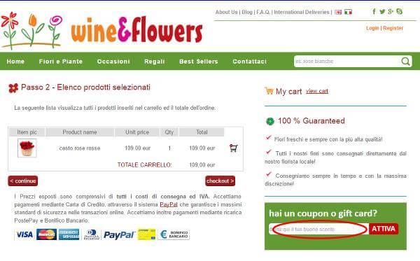 Come utilizzare il codice sconto Wineflowers.com in pochi passaggi: