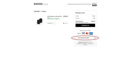 Codice sconto Sonos: qualità e risparmio garantiti