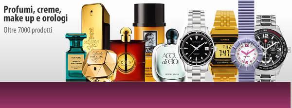 Profumi, orologi, creme e make-up a prezzi scontati