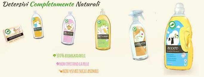 Alcuni detersivi naturali, ecologici e biologici venduti