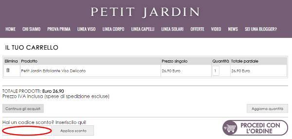 Riscuotere un codice sconto Petit Jardin e risparmiare sui propri acquisti