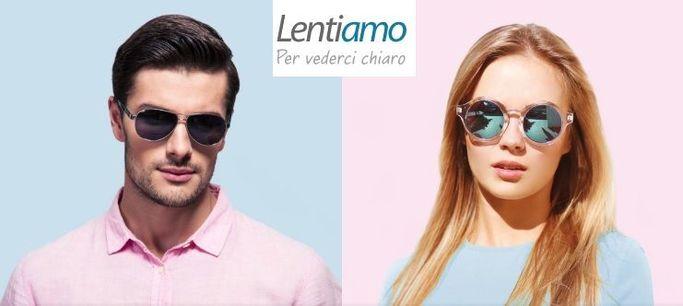 Alcuni occhiali da sole del catalogo Lentiamo