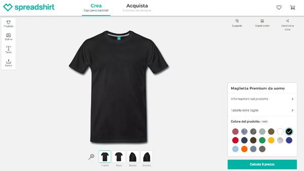 creare da sé capi personalizzati Spreadshirt