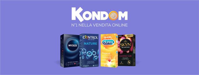 Alcuni dei preservativi del catalogo Kondom
