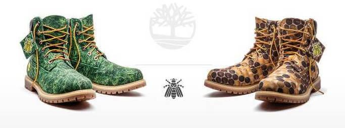 Le calzature famose Timberland in una rivisitazione selvaggia