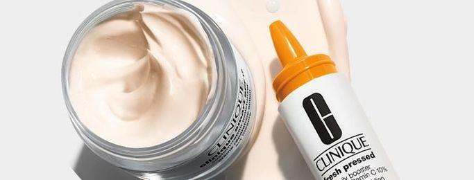 Esempio di cosmetici Clinique ipoallergenici e privi di profumo