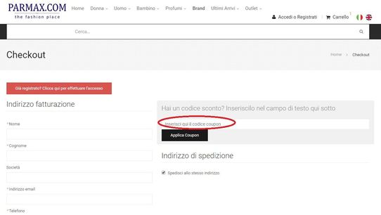 Riscuoti un codice Parmax.com su Signor Sconto per risparmiare