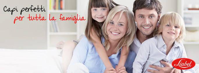 Pubblicità dei prodotti Liabel per la famiglia