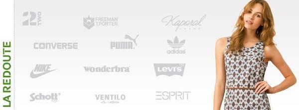 Alcuni dei brand in vendita presso La Redoute
