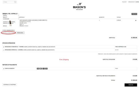 Come risparmiare con un codice sconto Mason's