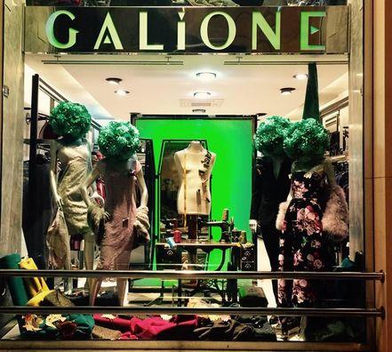 La vetrina del negozio Galione sito in Agrigento.