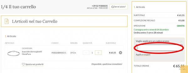 Riscuoti un codice sconto e risparmia acquistando su GioiaPura