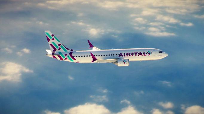 Un aereo della flotta Air Italy.