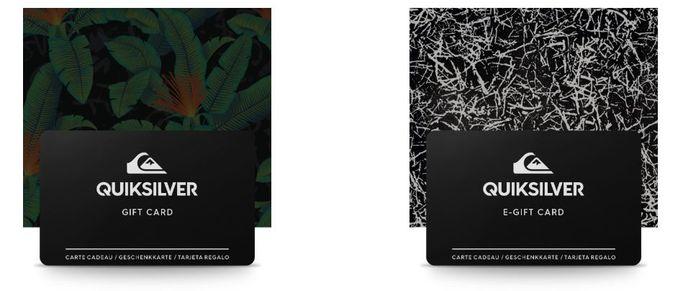 La gift card Quiksilver cartacea o elettronica