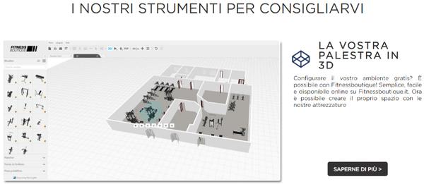 progettare la palestra ideale in 3D su fitnessboutique.it