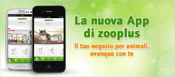 Acquistare su zooplus anche da dispositivi mobili.