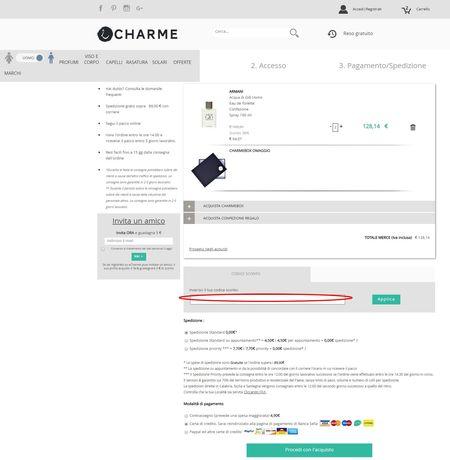 Il codice sconto si può riscuotere nella pagina di riepilogo dell'ordine.