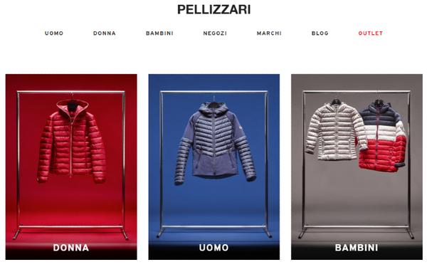 Homepage del negozio online Pellizzari