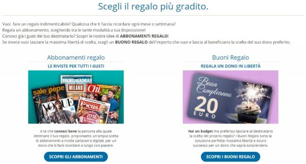 abbonamenti.it gift back e buono regalo