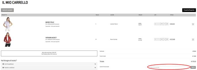 box del codice promozionale RefrigiWear